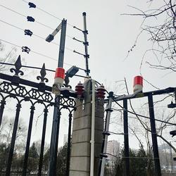 电子围栏,石家庄合洲,工厂电子围栏图片