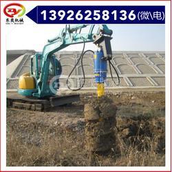 螺旋式液压钻机挖机钻孔挖坑机图片