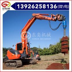 螺旋式钻机 挖机液压钻坑机 打孔图片