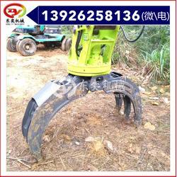 废铁搬运 挖掘机钩机抓钢器 旋转抓图片