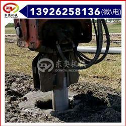 沉拔桩机 小型液压打桩机 挖掘机沉桩图片