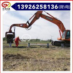 工程地基打桩 挖掘机打桩机 沉桩机图片