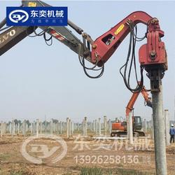 挖掘机液压打桩机生产厂家 东奕机械高频液压振动打桩锤图片