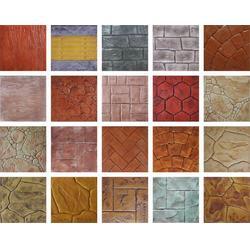 艺术压模地坪专用仿石压花路面彩色水泥混凝土压印路面专用模具图片