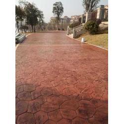 印花砼地面 压模地坪强化料 彩色水泥压模地坪图片