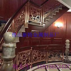 近代时尚铜雕花楼梯护栏款式设计 别墅艺术楼梯厂家定做图片