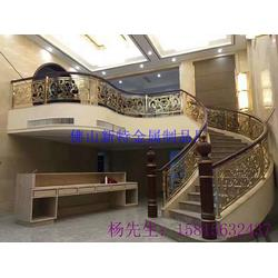 仿古中式艺术楼梯护栏围栏 铝铜雕刻雕花栏杆围栏图片