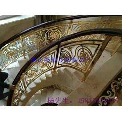 多款精美绝伦的别墅铝艺雕花楼梯护栏图片