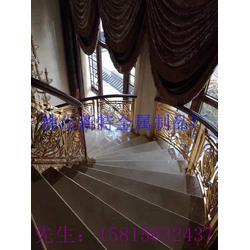 多款铝艺楼梯扶手风格实例图 艺术雕花楼梯安全护栏图片