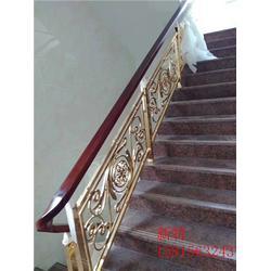 制作欧式铜艺楼梯护栏栏杆 深度研发艺术铜雕花楼梯扶手图片
