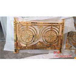 欧式豪华别墅铜艺雕花楼梯护栏 k金铜楼梯扶手图片