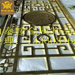 屏风厂家提供 青古铜隔断屏风 精细铝板浮雕图片