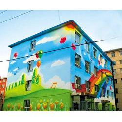 幼儿园墙体彩绘公司_山东新鸿彩绘_栖霞幼儿园墙体彩绘图片