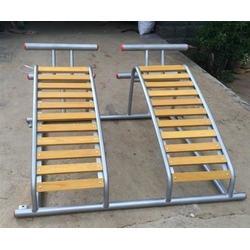塑木双人荡板、塑木健身器材、公园塑木双人荡板图片