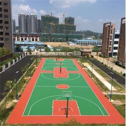 吉安市硅pu球场-特冠体育设施有限公司-硅pu球场网球场图片