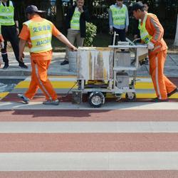 道路划线公司生命安全工程施工-湛江双组份标线涂料-路虎交通图片