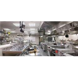 工厂厨房设计报价、工厂厨房设计、沃尔森装饰设计工程图片