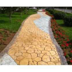 仿木纹混凝土压花地坪图案模具定做/水泥商混压印路面创意仿真图片