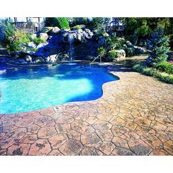 彩色混凝土压膜-彩色混凝土厂家供应优质水泥艺术压花路面 地坪图片