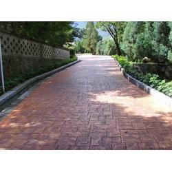 颜色任选压模地坪彩色强化料压模混凝土低价压花欢迎咨询图片