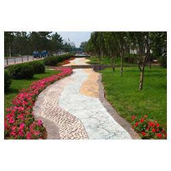 供应仿彩道板砖 压花路面 彩色混凝土 专业施工图片