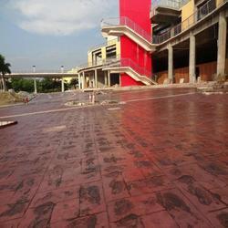 混凝土压花地坪/压印地坪/景观混凝土/模压道路 合理品质保证图片
