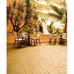 压花地坪的铺装及风格介绍图片