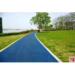 彩色沥青道路工程施工彩色透水沥青材料图片