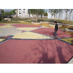 市政透水混凝土 仿尘透水地坪厂家图片