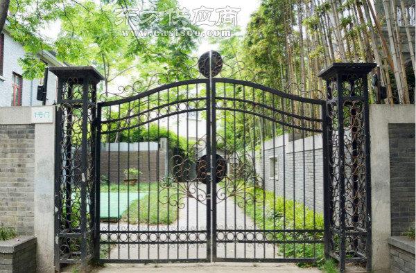 荆州铁艺电动大门|乐辰建材值得信赖|铁艺电动大门样式图片