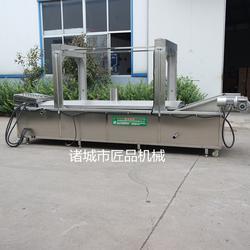 速凍茄盒全自動油炸生產線 茄盒油炸機圖片