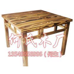 实木餐饮桌椅组合|何氏木厂|餐饮桌椅