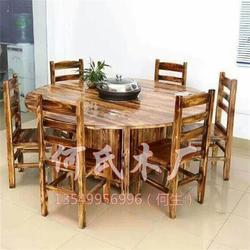 快餐小吃店桌椅、炭烧家具(在线咨询)、桌椅图片