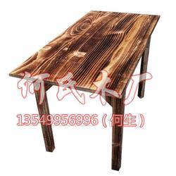 桌椅_食堂餐桌椅_何氏木厂(优质商家)图片