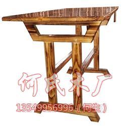 炭烧实木桌椅,何氏木厂,餐饮店炭烧实木桌椅图片