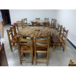 火烧木台凳_火烧木台凳订做_炭烧家具定做(推荐商家)图片