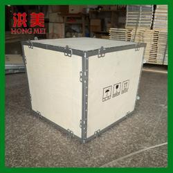 实木托盘免熏蒸木箱钢带箱可拆卸式拼装折叠式木箱厂家直销批量供应图片
