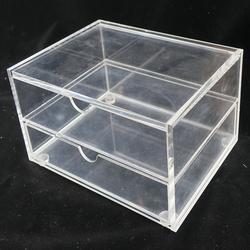 厂家定制屈臣氏亚克力商品展示架 多功能有机玻璃陈列分割盒图片