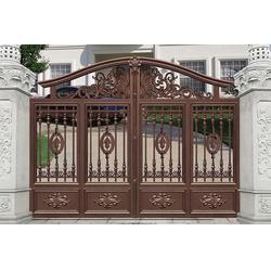 铝艺大门、现代别墅铝艺大门、华雅铝艺(优质商家)图片