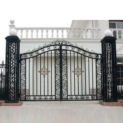 深圳庭院大门、华雅铝艺放心省心、庭院大门设计图片