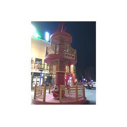 商场美陈设计、中耀动物雕塑栩栩如生、邯郸商场美陈