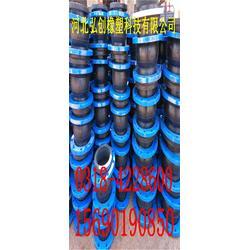 专业出售弘创牌 高弹性橡胶软接头 卡箍式橡胶接头 橡胶软连接 品质优良图片
