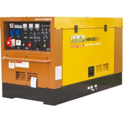 电王发电电焊机HW450DS日本久保田KUBOTA柴油双把水冷静音400A纤维素下向氩弧引擎电焊机图片