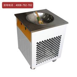 昆粤KL-018炒冰机 不锈钢单圆锅炒酸奶机 立式小型商用圆形炒冰机图片