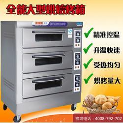 恒联PEO-4A 石垫板二层四盘喷涂比萨烤炉 外壳不锈钢电披萨烘烤炉图片