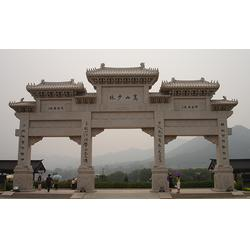 嘉祥超越石业客户至上-石头门楼用在什么地方-浙江石头门楼图片