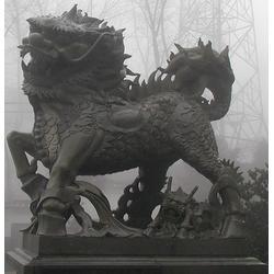 厂家供应动物石雕麒麟|嘉祥超越石业|启东动物石雕图片