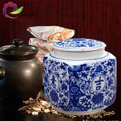 膏方罐 膏方瓷瓶 订做装膏方的陶瓷罐子密封罐药材罐图片