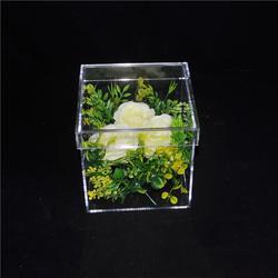 亚克力玫瑰花盒厂家-花盒-鲲翔亚克力工艺精湛图片