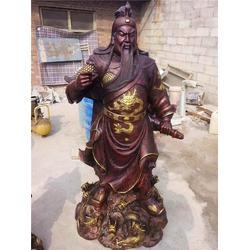 铜关公厂家、恒天铜雕、福建铜关公图片